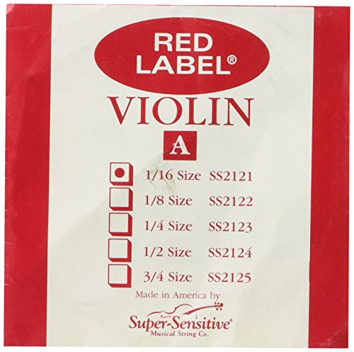 Super Sensitive Red Label Violin String A 1//2 Sz SS2124
