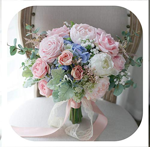 The best of us Artificial Bride Bouquet Pink Rose Lace for sale  Delivered anywhere in Canada