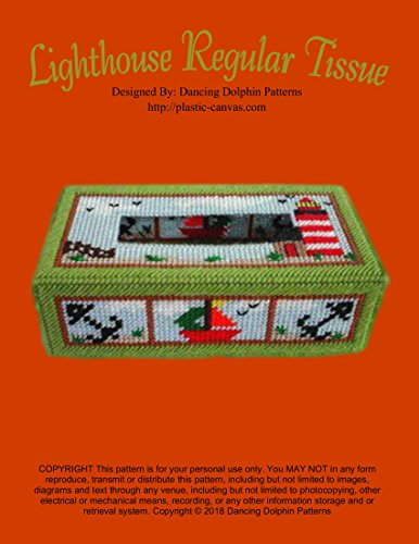 Lighthouse Regular Tissue Cover: Plastic Canvas Pattern