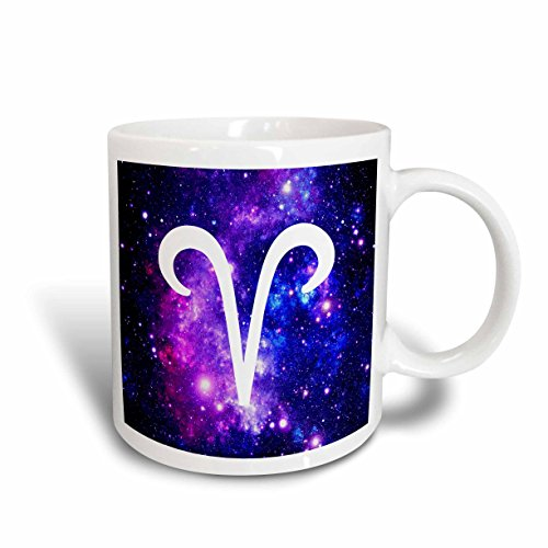3dRose 202147_2 Aries Star Sign - Ram Zodiac Glyph - Astrological Horoscope Symbol Mug, 15 oz, Purple ()