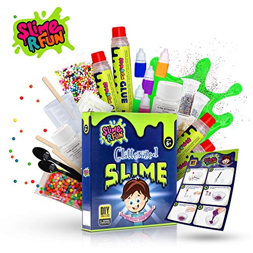 Ultimate Art Supply Kit - Unicorn Slime Kit DIY Tool - Ultimate Slime Making Kit with Slime Containers - Slime Supplies for Boys & Girls - Everything for Fluffy, Glitter, Glow, Floam, Cloud Styles, Mermaid, Science & Art Play
