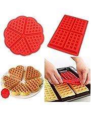 2 PC/Set Waffle Mold silicona horno cacerola para hornear galletas para tarta muffin cocina