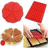 2stampi per waffle antiaderenti in silicone, stampi per biscotti, attrezzi da forno per cucina, confezione da 2
