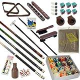 Pool Table - Premium Billiard 32 Pieces Accessory Kit - Pool Cue Sticks Bridge Ball Sets (Kit-5) -  Billiard Depot