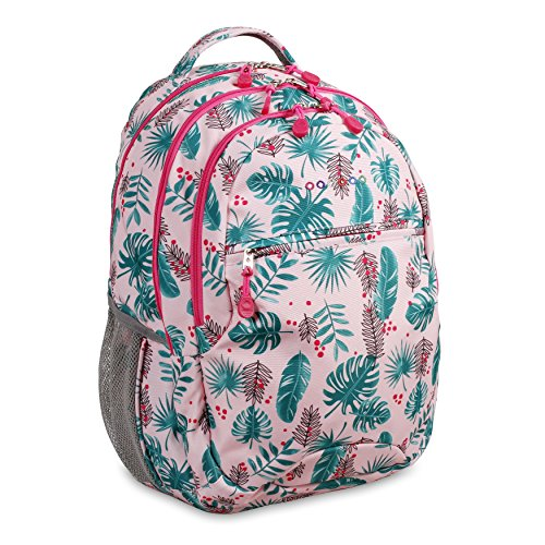 J World New York Kids' Cornelia Laptop Backpack, Palm Leaves