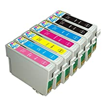 7 Pack - Remanufactured Ink Cartridges for Epson #98 #99 T098 T099 T098120 T099220 T099320 T099420 T099520 T099620 Inkjet Cartridge Compatible With Epson Artisan 700 Artisan 710 Artisan 725 Artisan 730 Artisan 800 Artisan 810 Artisan 835 Artisan 837