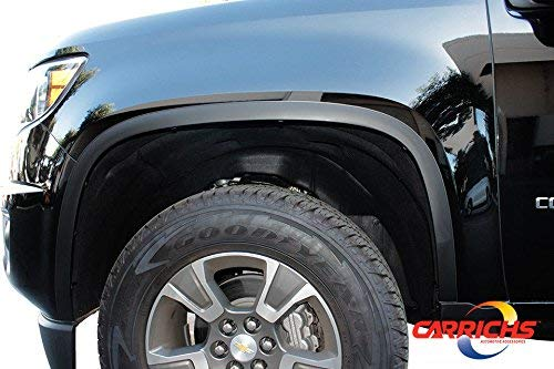 Matte Black Fender Trim For 15-19 Chevrolet Colorado//GMC Canyon Without OEM Flares