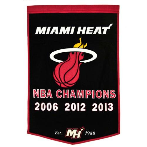 Miami Heat NBA Finals Championship Dynasty Banner - with hanging rod Miami Heat Championship