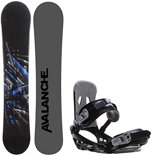 Avalanche Source 150 Mens Snowboard + Sapient Stash Bindings - Fits US Mens Boots Sized: 8,9,10. - Avalanche Snowboards 150