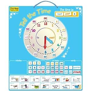 Doowell Activity Charts T-2535 - Juego magnético para aprender la hora