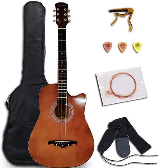 LOIKHGV Guitarras- 38/41 Pulgadas Guitarra Acústica Folk Guitarra ...