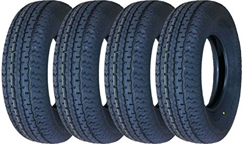 Set of 4 New Premium Grand Ride Trailer Tires ST 205/75R14 8PR Load Range D - 11079 … (14 Rims Tires And Inch)