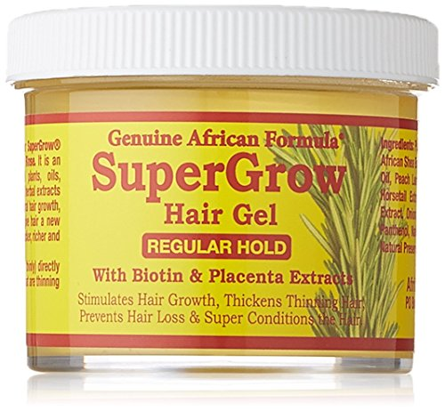 African Formula Super Grow Hair Gel Regular Hold 4oz