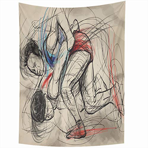 - Ahawoso Tapestry 60x80 Inches Yellow Converted from Martial Arts Greco Roman Wrestling is That Practiced Wall Hanging Home Decor Tapestries for Living Room Bedroom Dorm
