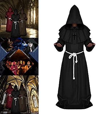 Surfmalleu Halloween Decoracon Disfraz de Monje Mago ...