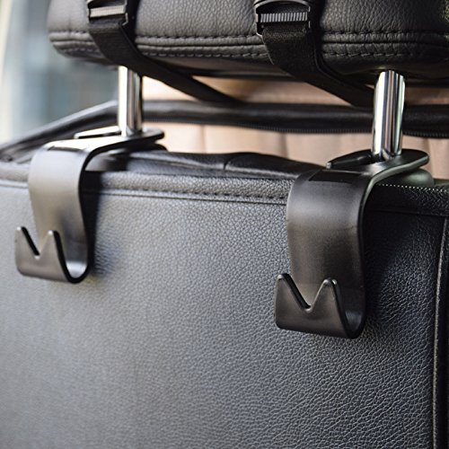 4 set car seat back headrest hooks tocgamt car backseat headrest hanger storage ebay. Black Bedroom Furniture Sets. Home Design Ideas