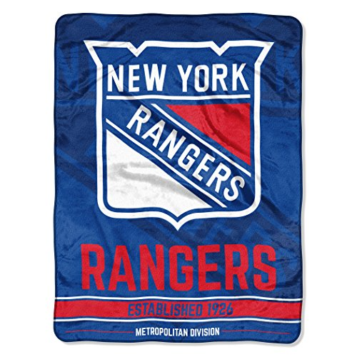 Ny Rangers Throw (The Northwest Company Officially Licensed NHL New York Rangers Break Away Micro Raschel Throw Blanket, 46