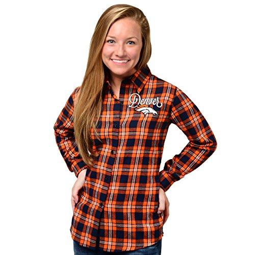 Denver Broncos 2016 Wordmark Basic Flannel Shirt - Womens Medium ()