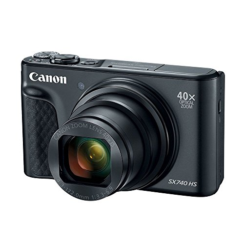 Canon PowerShot SX740 Digital Camera w/40x Optical Zoom & 3 inch Tilt LCD – 4K Video, Wi-Fi, NFC, Bluetooth Enabled (Black)