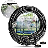 Innoo Tech Misting Cooling System 39.3FT (12M) Misting Line + 14 Upgrade Brass Mist Nozzles + a Brass Adapter(3/4) Outdoor Mister for Patio Garden Greenhouse Trampoline for waterpark