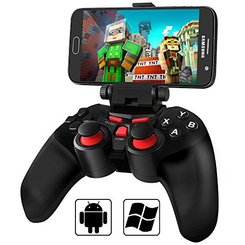 BEBONCOOL Wireless Bluetooth Game Controller Gamepad Joypad Joystick for Android Phone Samsung Gear VR, S6, S6 Edge, S7, S7 Edge, Note 5, Nexus, HTC, LG/Tablet with Clip