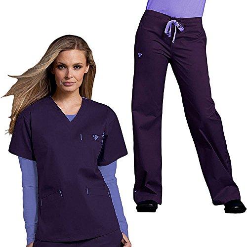 Med Couture Originals Women's Scrub Set Medium Plum/Lilac (Medium Plum)