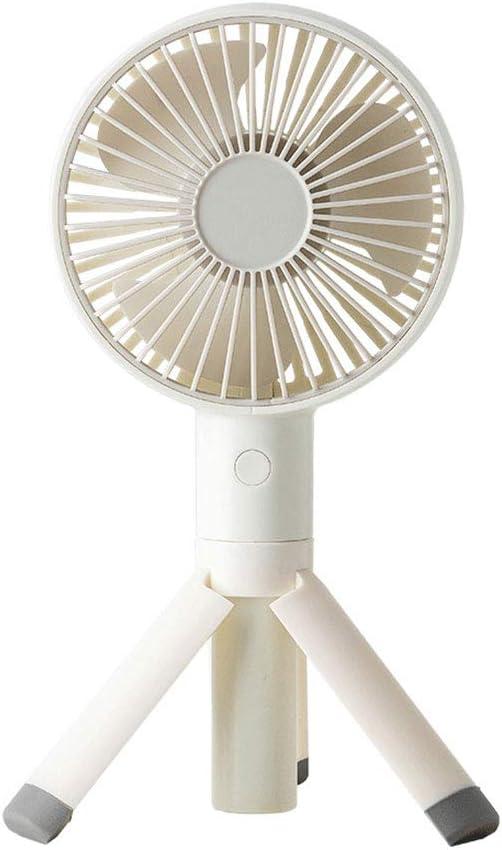 KKDWJ Silencioso Ventilador, Aire automático de circulación, se Puede Desmontar y Limpiar, con el trípode USB Recargable de 2000 mAh de la batería,Blanco