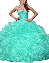 ELLAGOWNS Charming Lace Ball Gown Quince Dresses for Sweet 15