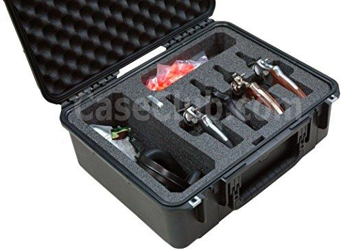 Case Club Waterproof 4 Revolver/Semi-Auto Case & Accessory Pocket with Silica Gel to Help Prevent Gun Rust