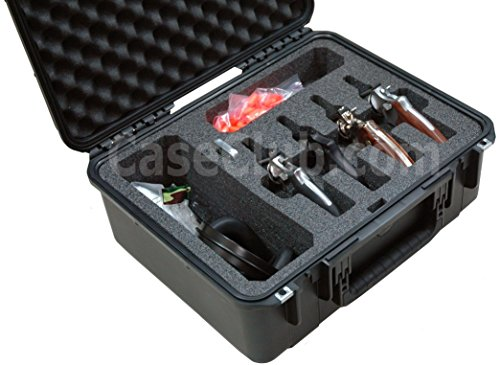 - Case Club Waterproof 4 Revolver/Semi-Auto Case & Accessory Pocket with Silica Gel to Help Prevent Gun Rust