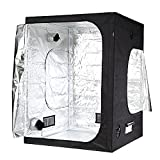 Cheap iPower 60″x60″x78″ 5'x5′ Hydroponic Mylar Grow Tent with Observation Window, Tool Bag and Floor Tray for Grow Light and Indoor Plant Growing