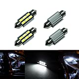 nterior car lights - PA 4x 5730 Chip Super Bright SMD LED Bulbs for Interior Car Lights License Plate Trunk Dome Door Courtesy 36MM 1.5 INCH Festoon 6418 C5W 6000K Xenon White (PACK OF 4 )