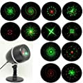 Lightess Christmas Projector Lights Laser Lights Outdoor Decorations Red&Green Moving Galaxy Show Spotlights for Party Halloween Stage Light