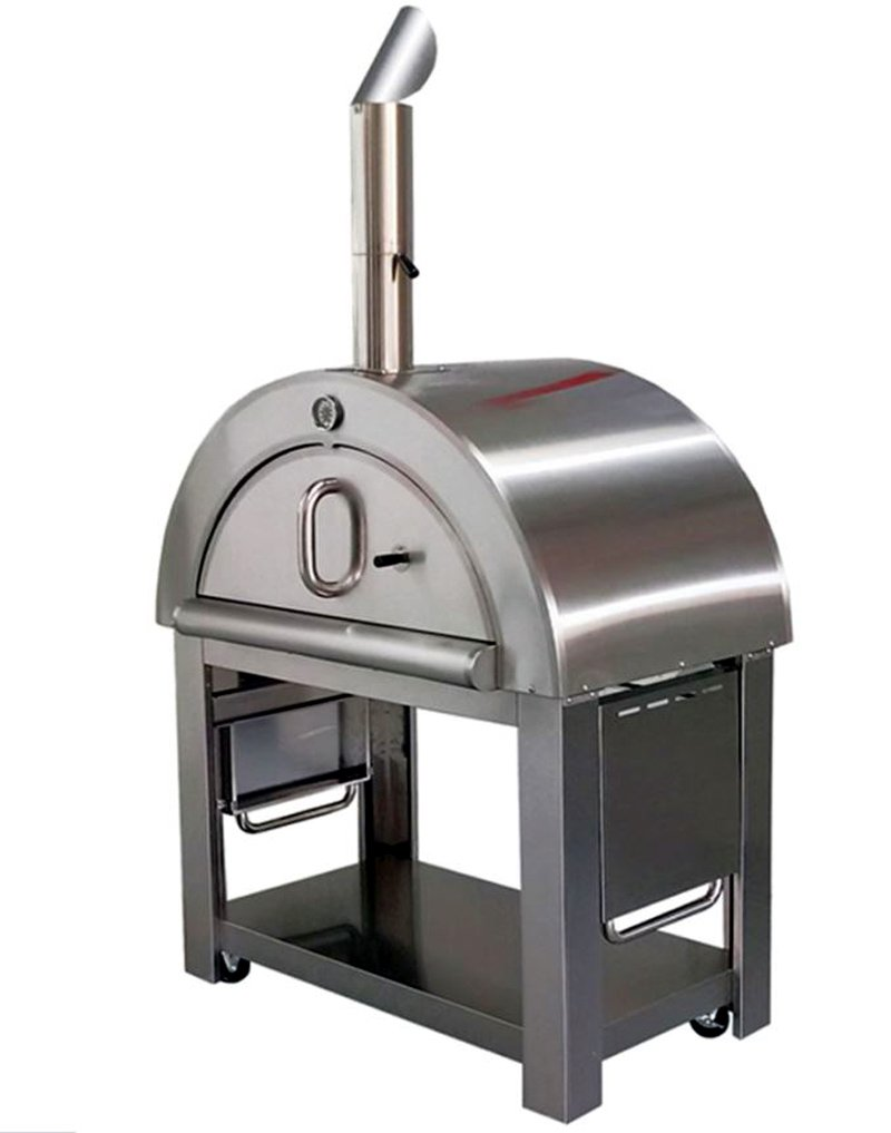 44'' Wood Fired Outdoor Stainless Steel Artisan Pizza Oven or Grill for Outdoor or Indoor