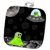 3dRose Janna Salak Designs Aliens - Alien Invasion - 8x8 Potholder (phl_6087_1)