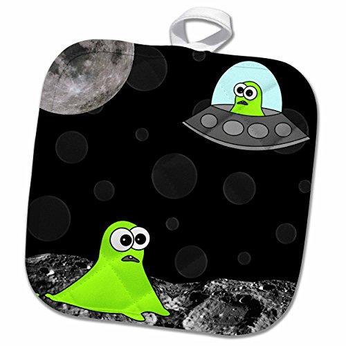 3dRose Janna Salak Designs Aliens - Alien Invasion - 8x8 Potholder (phl_6087_1) by 3dRose