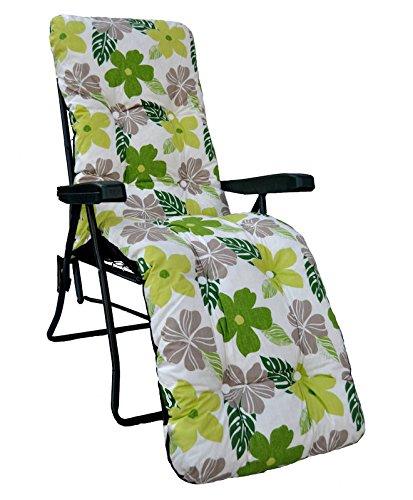 Patio jardín tumbona multiposición tumbona silla con cojín ...