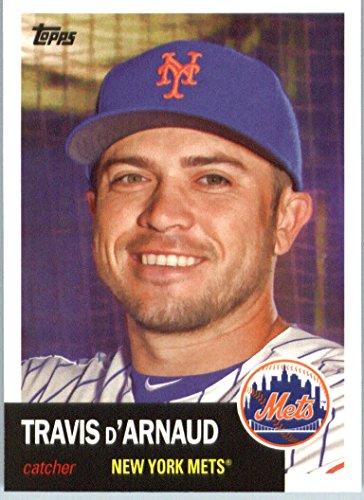 6049f0eb4de Amazon.com  2016 Topps Archives  21 Travis d Arnaud New York Mets Baseball  Card in Protective Screwdown Display Case  Collectibles   Fine Art
