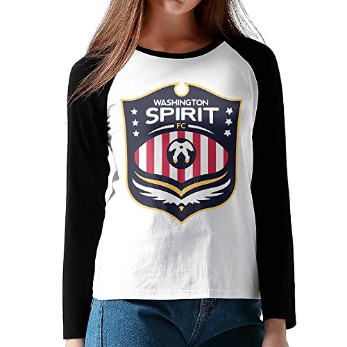 XJBD Women's Washington Spirit Long Blended Baseball Shirt Size S