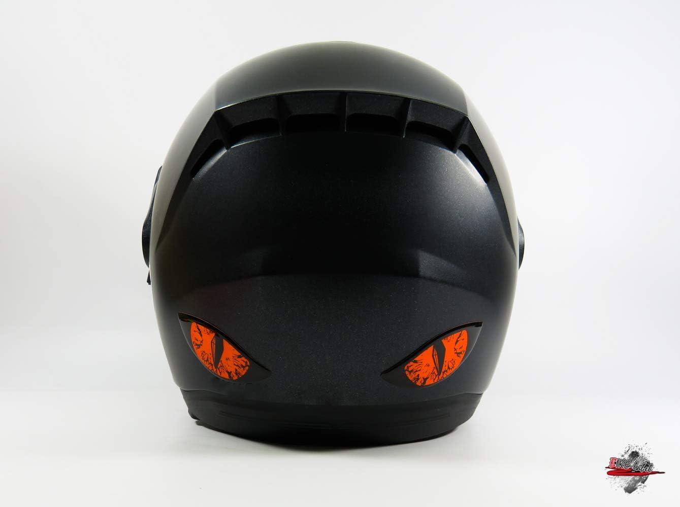 Bike Label 910063VA Pegatina 3D para casco de moto color naranja ne/ón