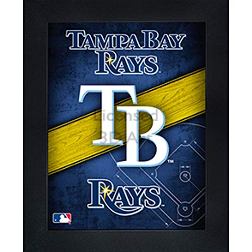 Tampa Bay Rays 3D Poster Wall Art Decor Framed Print   14.5x18.5   Lenticular Posters & Pictures   Memorabilia Gifts for Guys & Girls Bedroom   MLB Baseball Sports Team Fan Poster for Man Cave