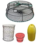 KUFA Sports (CT79+PAM3 Vinyl Coated Crab Ring Trap with Crabbing Accessory Combo