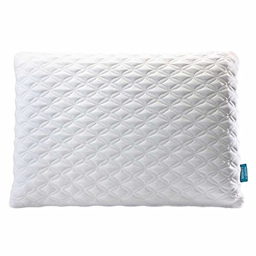 Serenity Memory Foam Bed Pillow with Soft and Breathable Cover Included, White (24'x16') - Pillow Tempur Foam Pedic
