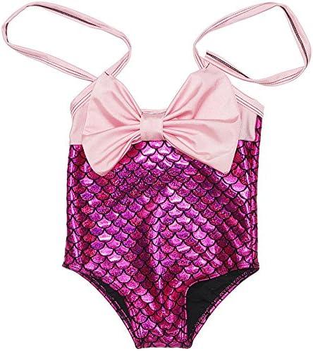 Das beste Little Girls One-Piece Mermaid Fish Scale Bikini Princess Swimming Bathing Suit