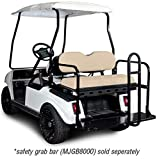 Madjax 01-004 Genesis 150 Rear Flip Seat Kit for 2001.5-Up Club Car DS Golf Carts Buff Cushions