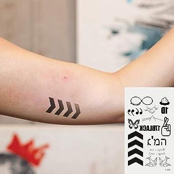 Oottati 2 Hojas Pequeño Lindo Tatuaje Temporal Tattoo Símbolo De ...