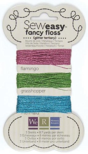 We R Memory Keepers WER71152-0 Sew Easy Glitter Floss, Tertiary, Tertiary -