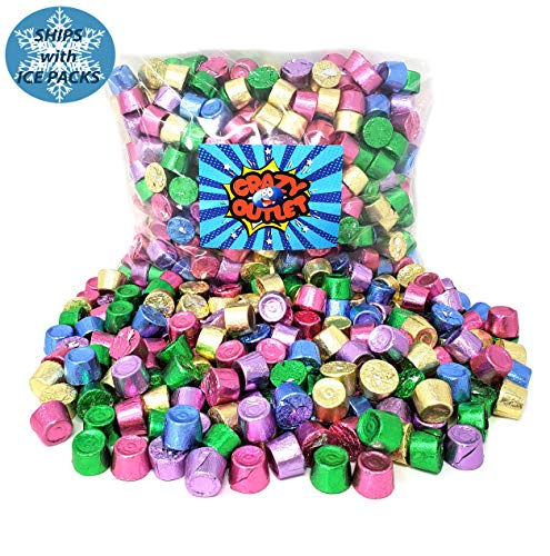 Party Colors Rolo Chewy Caramel in Milk Chocolate, Mothers Day Spring Colors Wrap Candy, 2 lbs