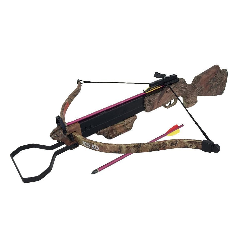 Wizard Archery 130lbs Camo Hunting Crossbow with 4x20 Scope and 7 x Arrows