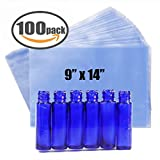 "Shrink Bag 100 PCS Heat Shrink Wrap Bags 9''x14'' & 100 Gauge for Wrapping Bath Bombs, Soaps, Oil & Homemade Gifts (9"" x 14"")"